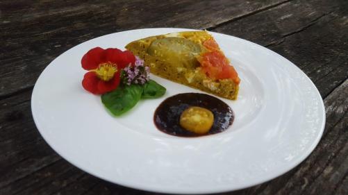 Paradeiser-Pfann(en)kuchen-Stück